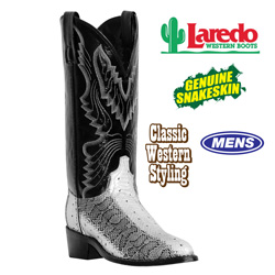 Laredo Snake Skin Boots&nbsp;&nbsp;Model#&nbsp;4573