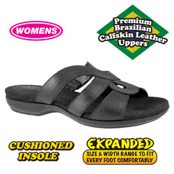 Black Womens Kiesha Sandals  Model# H-39034D