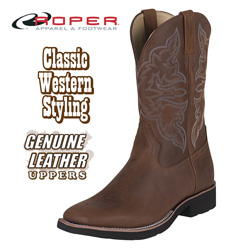 Roper Square Toe Brown Western Boots&nbsp;&nbsp;Model#&nbsp;9-20-5800-902