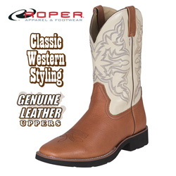 Roper Square Toe Tan Western Boots&nbsp;&nbsp;Model#&nbsp;9-20-5800-903