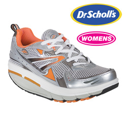White/Orange Dr. Scholl's Fitness Shoe  Model# WHITE/ORANGE/GRAY