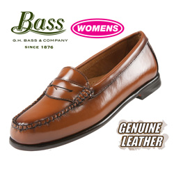 Womens Brown Bass Penny Loafer  Model# LONDON-KAR