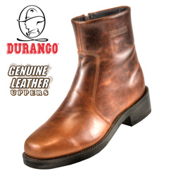 Durango Brown Side-Zip Boots  Model# SW2944