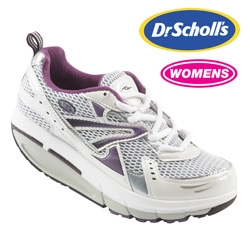 Womens Dr. Scholls White/Plum Shoe  Model# INSPIRE WICKED/PLUM