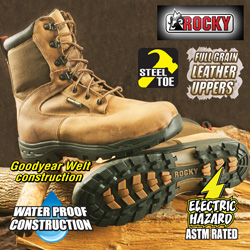 Rocky Prolight Steel Toe Boots  Model# FQ0006577