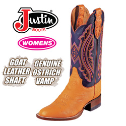 Justin Ostrich Boot&nbsp;&nbsp;Model#&nbsp;L5523