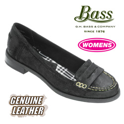 Bass Penny Loafer - Black&nbsp;&nbsp;Model#&nbsp;BROOKFIELD-BLACK BURNISHED