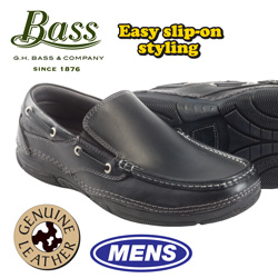 Bass Taft Slip-Ons  Model# TAFTBLK