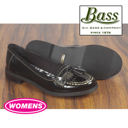 Bass Womens Black Patent Loafers&nbsp;&nbsp;Model#&nbsp;BLACK-PAT