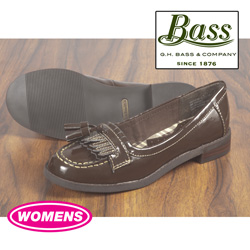 Bass Womens Brown Patent Loafers&nbsp;&nbsp;Model#&nbsp;COCOA-PAT