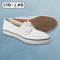 White Canvas Boat Shoe  Model# 7280-WHITE