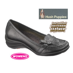 Black Iria Hush Puppies&nbsp;&nbsp;Model#&nbsp;H503567