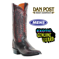 Dan Post Black Cherry Lizard Boot  Model# DP2352R