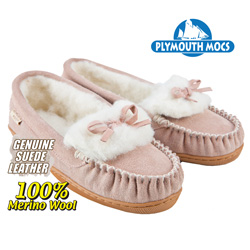 Pink Leather Moccasins  Model# 8360
