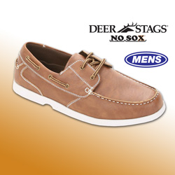 No Sox Cooper Deck Shoes  Model# COOPER-COGNAC