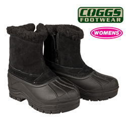 Womens Black Coggs Snow Boots  Model# HH-5009