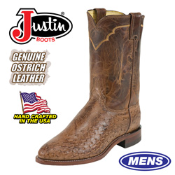 Justin Ostrich Boots&nbsp;&nbsp;Model#&nbsp;3290