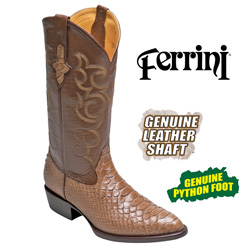 Ferrini Python Boots - Taupe&nbsp;&nbsp;Model#&nbsp;10611-44