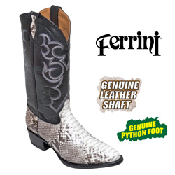Ferrini Python Boots - Natural  Model# 10611-05