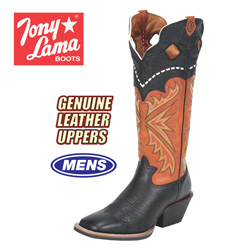 Tony Lama Black Kodiak Boot  Model# RR1009
