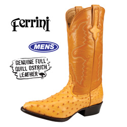 Mens Ferrini Ostrich Boot  Model# 1011101