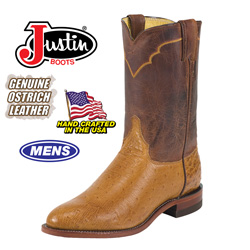 Justin Ostrich Boots&nbsp;&nbsp;Model#&nbsp;3292