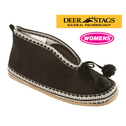 Womens Deer Stags Mutsy Slippers  Model# MUTSY-BLACK