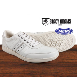 Stacy Adams Argosy Shoe - White  Model# 53370-100