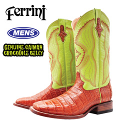 Ferrini Belly Caiman Boots  Model# 12493-02