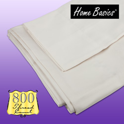 Home Basics 800 Thread Count Sheets - King  Model# KING-IVORY