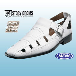 Stacy Adams Cimarron Sandals - White  Model# 24727-100