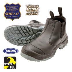 Shield Ultra Pull-On Steel Toe Boots  Model# BU9007ST