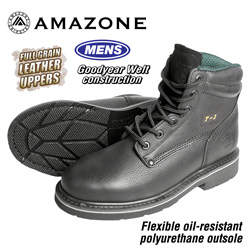 Amazone Workboots - Black  Model# T-1 BLACK