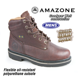 Amazone Workboots - Brown&nbsp;&nbsp;Model#&nbsp;T-1 BROWN