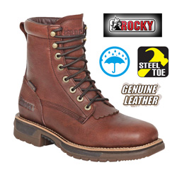 Rocky Steel Toe Workboots  Model# 6647