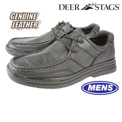 Deer Stags Glendale Shoes - Black  Model# GLENDALE-BLACK