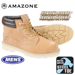 Amazonian Steel Toe Work Boots - Wheat  Model# 7001 LANCER ST WHEAT