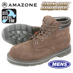 Amazonian Steel Toe Work Boots - Brown  Model# 7001 LANCER ST CHOC