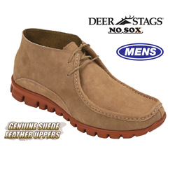 Deer Stags No Sox Chukka Boots  Model# SUED-SAND/BRICK