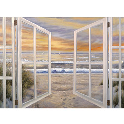 Elongated Window On Canvas  Model# 75-9X36