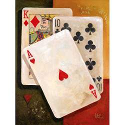 Poker King On Canvas  Model# 75-152HR