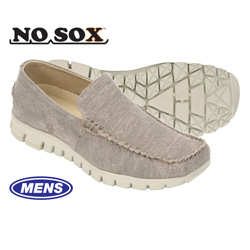 Deer Stags NoSox Mocs - Grey  Model# MOC-WCNV-GREY