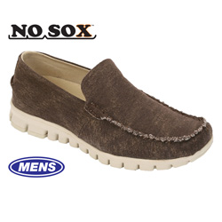 Deer Stags NoSox Mocs - Brown  Model# MOC-WCNV-BROWN