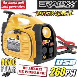 Rally 8-In-1 Portable Power Source&nbsp;&nbsp;Model#&nbsp;7471