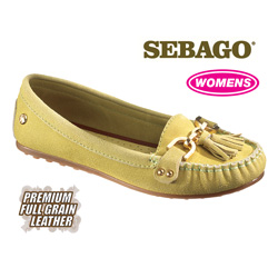 Sebago Cypress Moccasins - Lime  Model# B400020