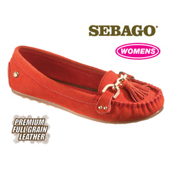 Sebago Cypress Moccasins - Red  Model# B400025