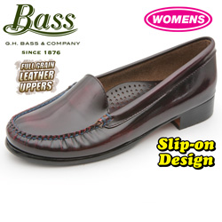 Bass Womens Madison Loafers - Red  Model# MADISON-1 RED