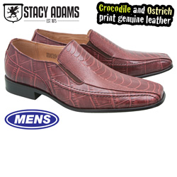 Stacy Adams Teague Slip-Ons - Burgundy  Model# 24599-601