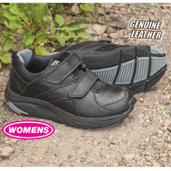 Womens Winner Strap Shoes - Black  Model# 11318