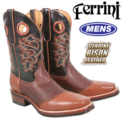 Ferrini Bison Boots - Chocolate  Model# 12871-02